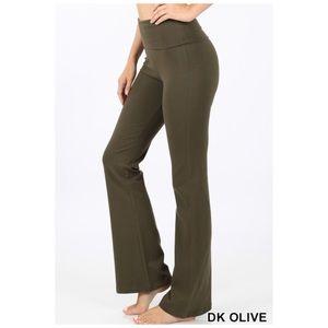 Army green yoga pants lounge S,M, L, XL NWT